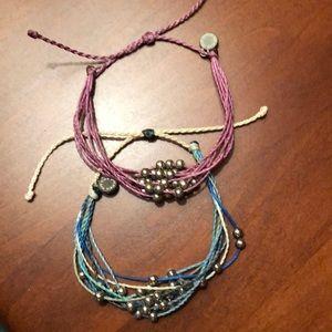 Set of 2 pura vida bracelets